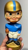 1967 Blue Gold Navy Notre Dame Original Round Gold Base Bobble Head Nodder Nice