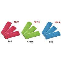 3x Micro-fiber Cloth For Flat Mop Water Spray Household Floor Cleaner Mop Head