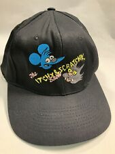 Vintage 90s The Simpsons Itchy & Scratchy SnapBack Hat Rare