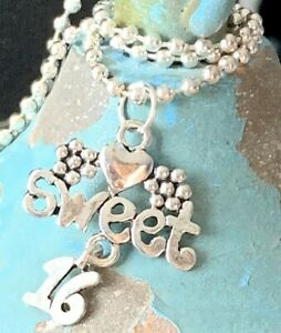 Sweet 16 Necklace. Love. Sixteen Candles. Bloom. Happy Birthday. Gift