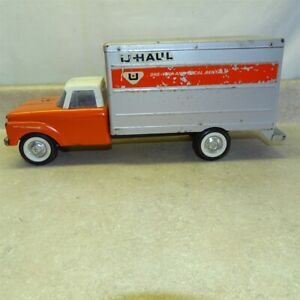 Vintage Nylint Ford U-Haul Box Truck, Pressed Steel Toy Vehicle