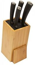 Woodluv Large Universal Bamboo Knife Block Rest Rack Stand Organiser,