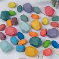 Wooden Stone for kids Building Block Creative toy  Stacking Game Rainbow Toy