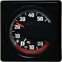 Historisches Bimetall Thermometer Relief 3D Skala justierbar RICHTER / HR 45321