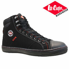 Mens Lee Cooper Black safety shoes Trainers Metal toe Cap UK size 12