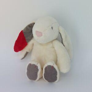 Sainsburys Play and Grow Bunny Rabbit Soft Toy Plush Comforter Red & Grey Ears