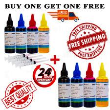 4-Color 8 Bulk Ink Refill Kit for Epson Inkjet Printer Cartridges Buy 1 & 1 FREE