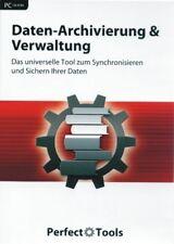 Daten Archivierung und Verwaltung Software PC NEU und OVP Perfect Tools