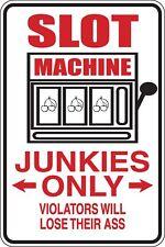 Slot machine Junkies seulement Funny Novelty Stickers JDM Euro Lrg SM1-177