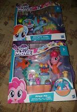 2x My Little Pony Undersea Sports Scene Playsets Rainbow Dash & Pinkie Pie