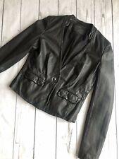 All Saints Leather Jacket, Black Real Leather Blazer, Ashlar Jacket, Size 8-10