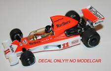 decal Mclaren M23 1976 South Africa GP TOBACCO Hunt Mass Minichamps 1/43 F1