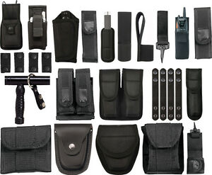 Police Officer EMS Security Duty Belt Pouches & Rigs Your Choice