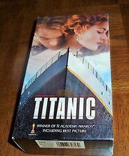 TITANIC VHS - 2-TAPES-LEONARDO DiCAPRIO-KATE WINSLET-WINNER OF 11 ACADEMY AWARDS