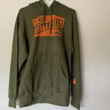 AIRBLASTER men's hoodie sweatshirt, olive, MEDIUM, w/defect: smudge