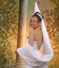 Brautstola Pelzstola Stola Hochzeit weiß ivory champagner schwarz neu