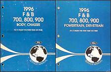 1996 Ford F700 F800 FT900 Truck Shop Manual Set Repair Service Workshop B700-800