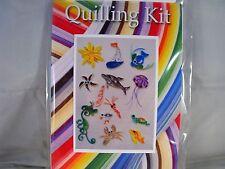 COMPLETE Quilling Kit con Strumento + carta + istruzioni da parte del mare KD 4