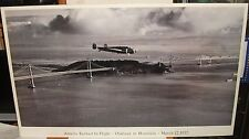 "AMELIA EARHART ""IN FLIGHT OAKLAND TO HONOLULU 1937"" BLACK AND WHITE POSTER"