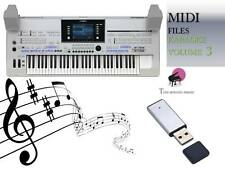 MIDI File Karaoke USB stick for Tyros 4 Volume 3 NEW