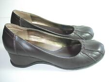 WOMENS BROWN HEELS BALLET FLATS COMFORT PUMPS CAREER HEELS SHOES SIZE 8 M
