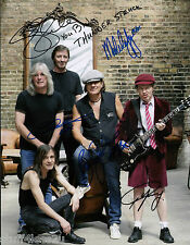 AC/DC 8x10 RP Band Signed Angus Young Malcolm Brian Johnson
