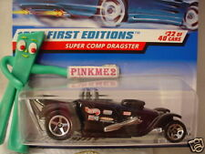 1998 #22 FE Hot Wheels SUPER COMP DRAGSTER #655 ∞black w/ 5:2 decal