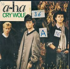 """45 TOURS / 7"""" SINGLE--A-HA / AHA--CRY WOLF / MAYBE MAYBE--1986"""