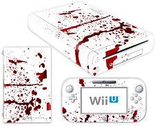 Nintendo Wii U Skin Design Foils Aufkleber Schutzfolie Set - Blood Motiv