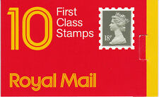 Gb: 1987: 10 x 18p, Window Booklet, Barcode 5 014721 200026, square catch