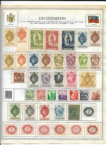 Liechtenstein 3 Pages Unpicked Stamps