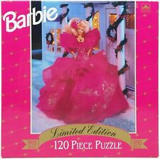 Barbie Golden 120 Piece Puzzle Happy Holidays 1990 Limited Edition Nrfb
