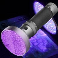 100LED UV Ultra Violet Blacklight Flashlight Lamp Torch Inspection Light Outdoor