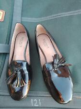 Walnut Melbourne Ladies Women's Flat Slip On Talia Patent Black Loafer size 40