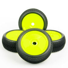 4Pcs Ruber Buggy Tire Wheel Rims For HPI Kyosho MP9 1:8 RC Off-Road Car 17mm Hex