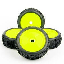 4Pcs 1:8 Off-Road Rubber Buggy Tire Wheel Rim Set For HPI HSP RC Car 22054+26018