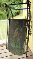 Antique Primitive PA Dutch German Folk Art Painted Plank Sleigh Sled Farm Estate