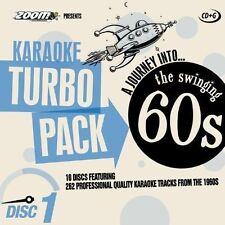 Zoom Karaoke CDG 60s hits Turbo Pack 262 pistas superior en 10 Discos Nuevo