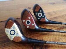 vintage FANCY FACE *WALKER CUP* set PERSIMMON WOODS  Wilson golf clubs