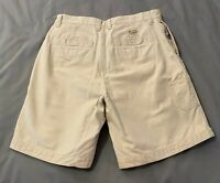 Columbia Utility Hiking Canvas Cargo Shorts Stonewashed Khaki Size 10