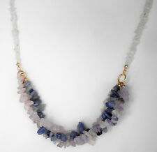"""Gemstone rope design necklace with gold plated clasp Approx. 22"""" or 56cm"""