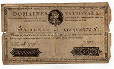 Assignat de 50 livres septembre  1790 BOIVIN