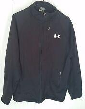 Under Armour mens black full zip zipper up Jacket size MD Medium M