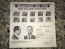 "*RARE* LUIGI ""BABY SHACKS"" MANOCCHIO MAFIA BOSS FBI WANTED POSTER *PLS OFFER*"