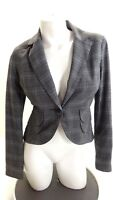 CABI WOMENS BLACK & WHITE TWEED BLAZER JACKET SIZE 4