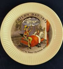Wedgwood 1971 Ed Child'S Day The Sandman By Hans Christian Andersen Plate 6 Inch