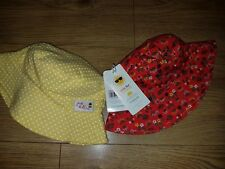 Mothercare 2 piece set Girls summer hats/panama 6-12 mths UPF+40 Sun Protection