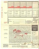 Alter Toto Schein von 1968 mit Auswahlwette, Hessen-Lotto und Olympia-Lotto