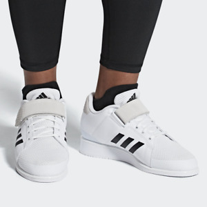 adidas Power Perfect III 3 Mens Weightlifting Shoes Gym Trainers White SIZES