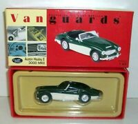 VANGUARDS 1/43 VA05101 AUSTIN HEALEY E 3000 MK2 BRITISH RACING GREEN WHITE